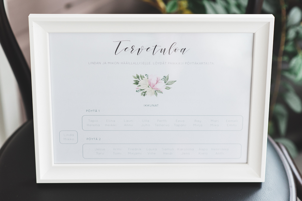 Floral watercolor seating chart, A2 size. item
