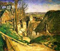 'The Hanged Man's House in Auvers' by Paul Cezanne, 1873 currently at Musée d'Orsay, Paris, France