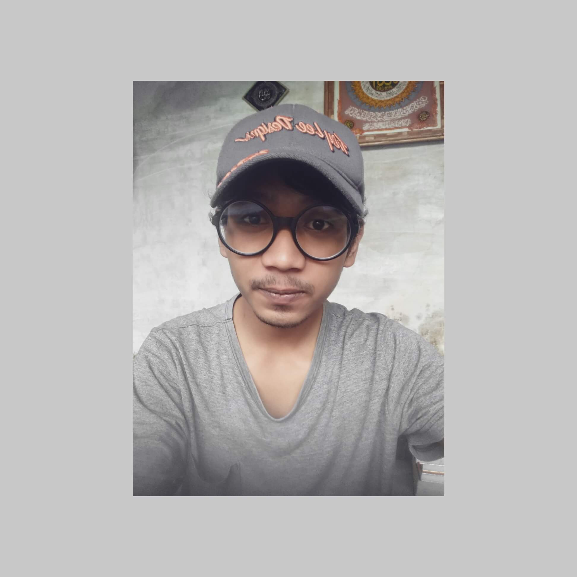 Budi with Hat ~ 2020/06/18