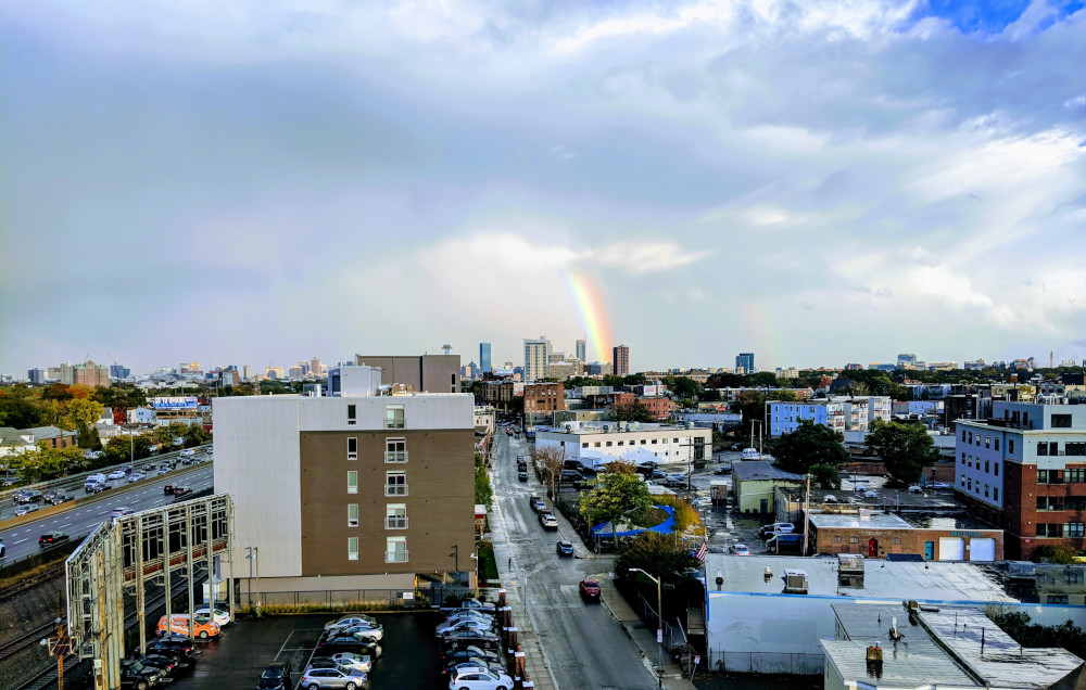 Rainbow over Boston