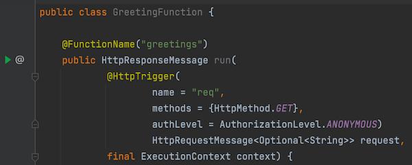 Run the Azure Function from Intellij Idea