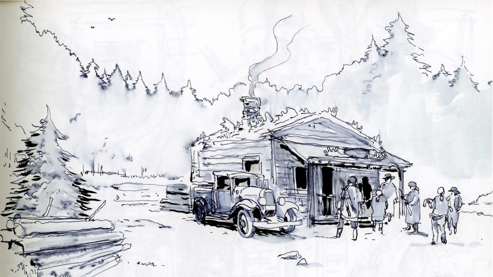 Feature film storyboard drawn during script develoment