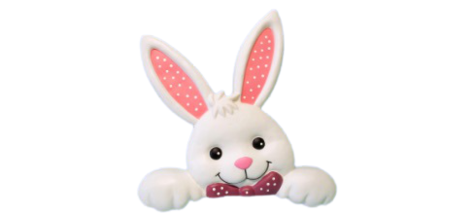 Easter Bunny Fence Topper photo