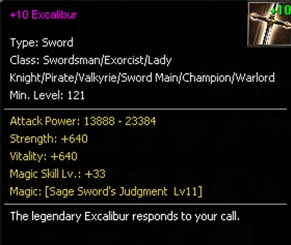 +10 Excalibur Sword