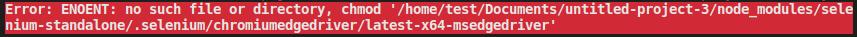 Linux web error