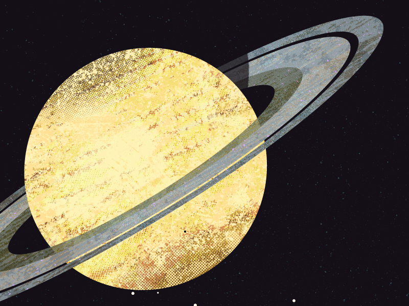Detailed illustration of the ringed-planet Saturn