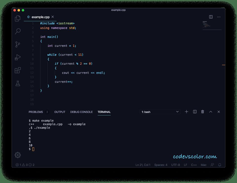 C++ while loop
