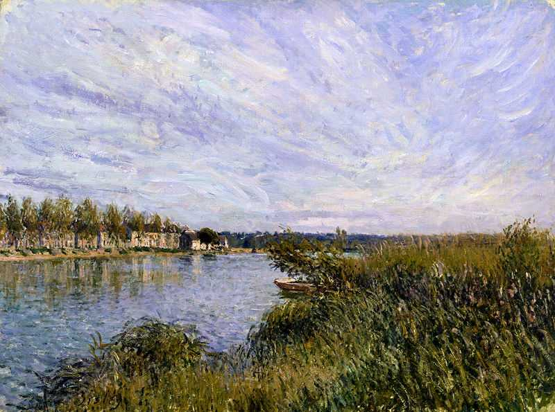 'View of Saint-Mammès', painted by Aflred Sisley, c. 1880 currently at the The Walters Art Museum