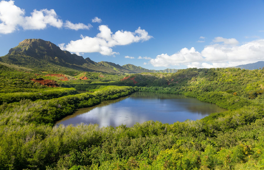 Menehune fishpond, Kaua'i, Hawai'i