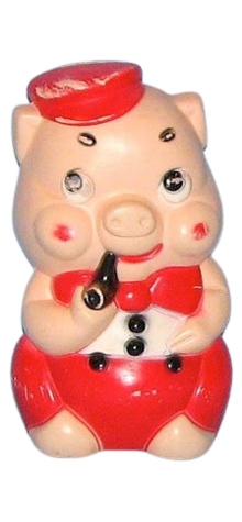 Pig With Pipe Bank photo