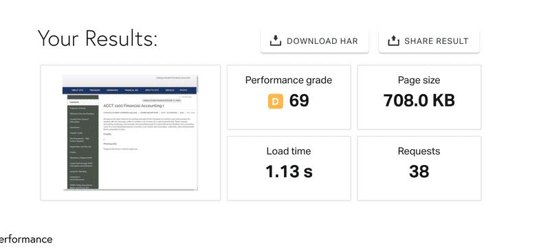 Smart Catalog course catalog software speed test