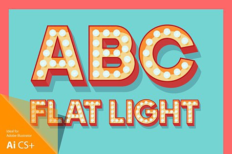 Flat Lamp Typefaces 3D-lamp-flat-red_1.jpg