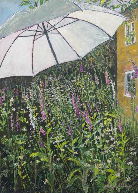 Summer Parasol gouache painting