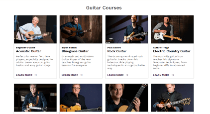 artist works guitar lessons