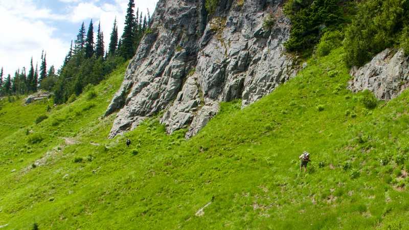 Walking toward Chinook Pass