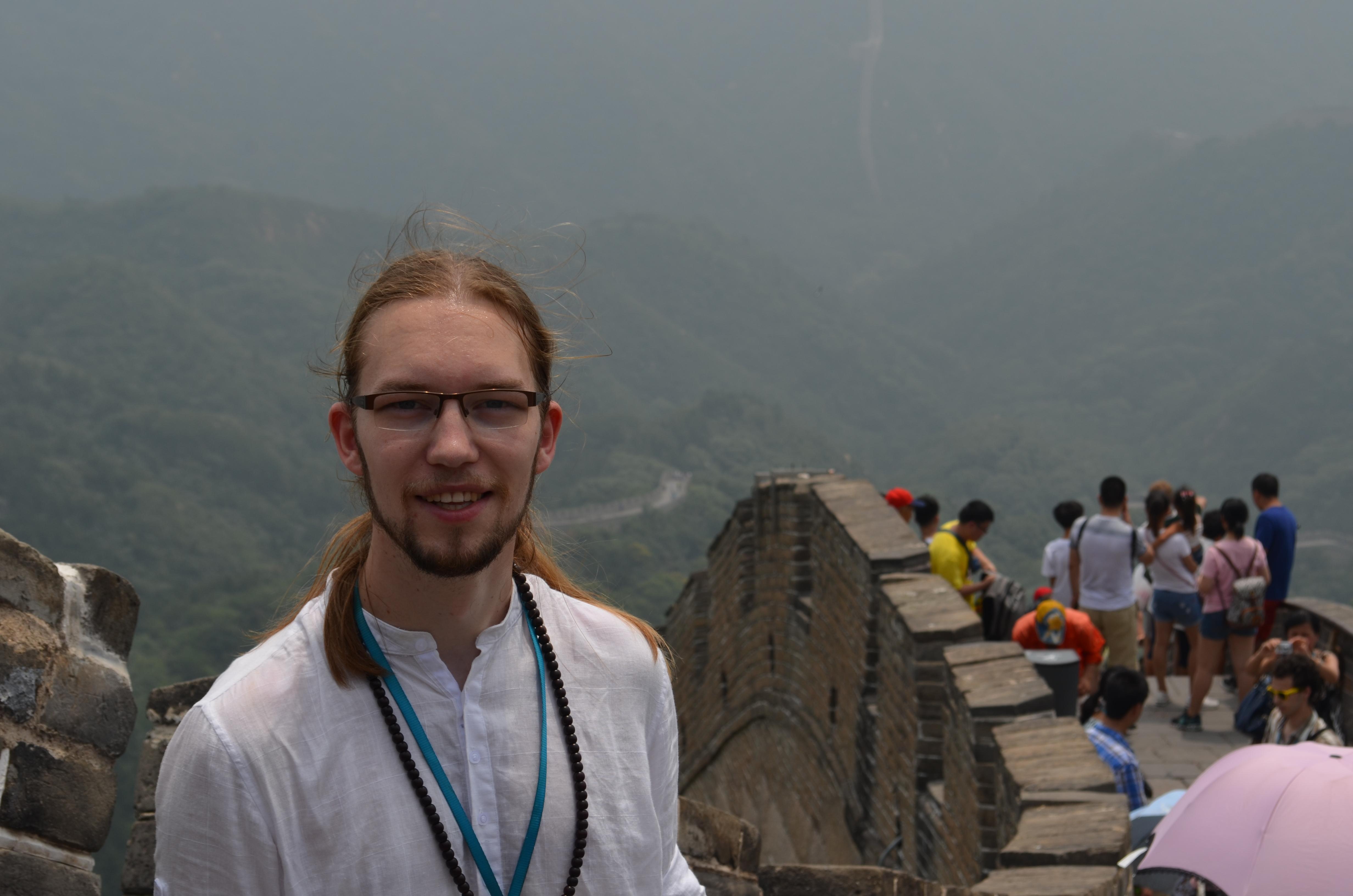 Ich und die Mauer. Ja, jetzt war ich wirklich in China.