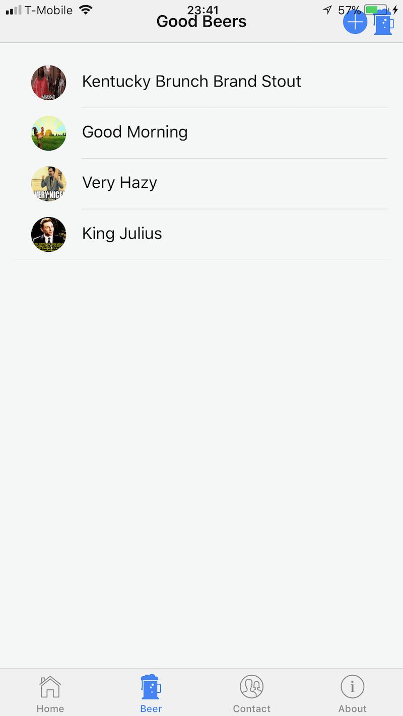 Phone Beer List