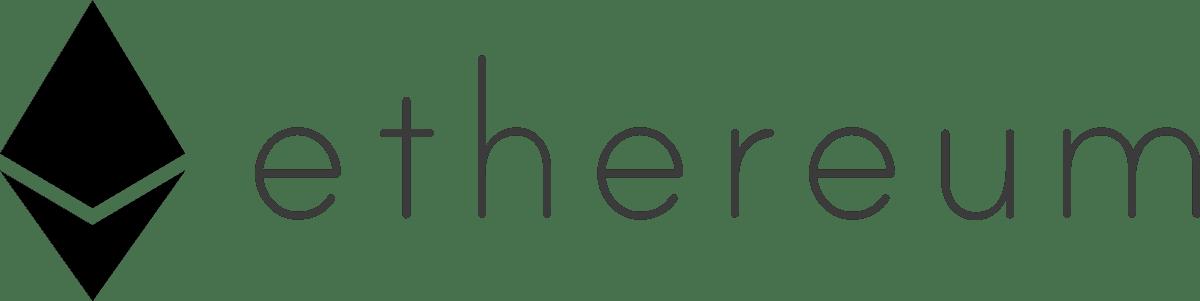 Ethereum logo landscape black