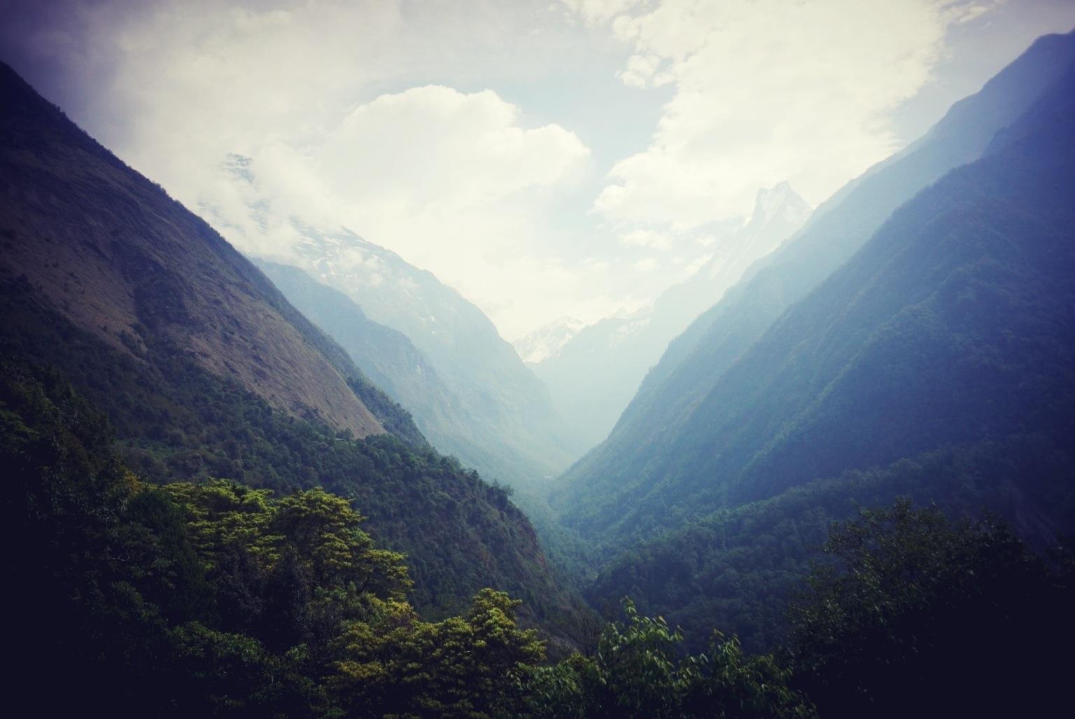 Annapurna valley, looking north