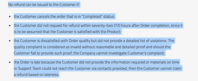 bestdissertation.com refund policy