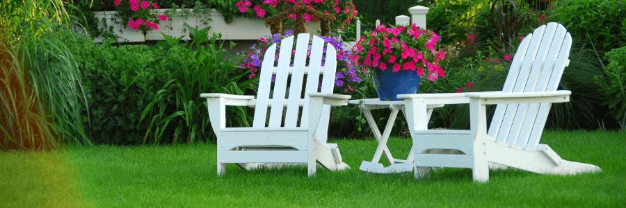 Backyard Makeover - Adirondacks