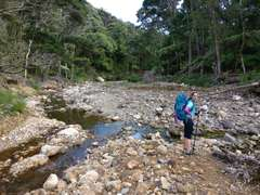 The first of many stream crossings