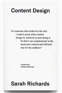 The cover of Sarah Winters' (was Richards) The Content Design Book