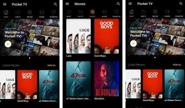 PocketTV best showbox alternatives