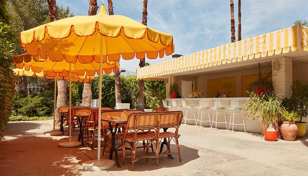Lemonade stand patio