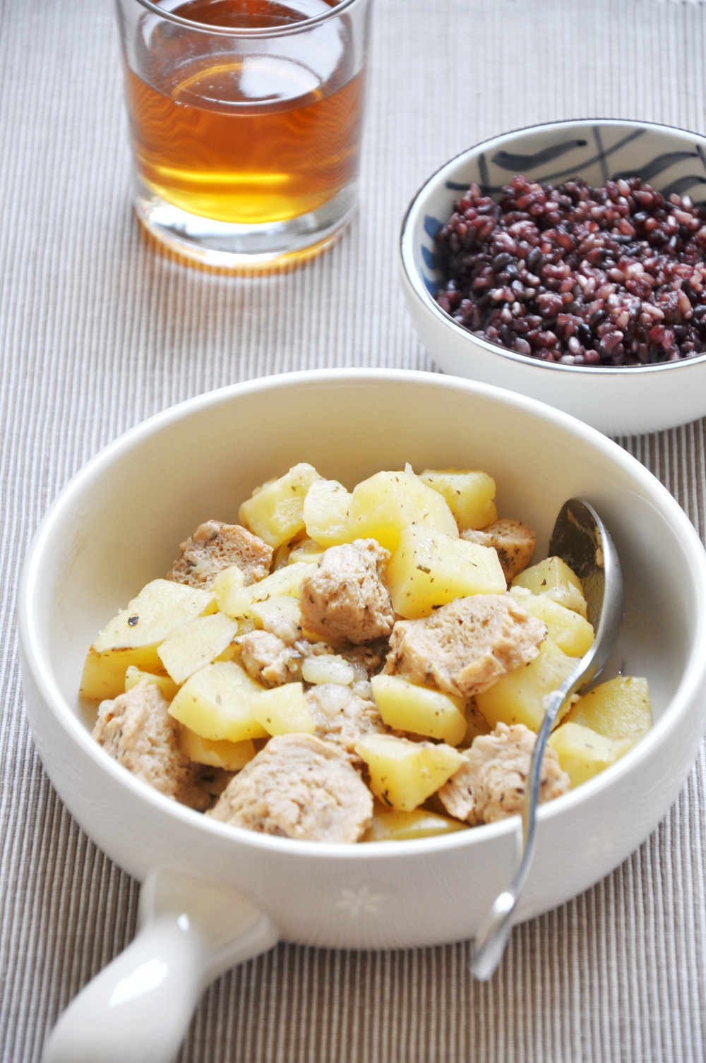 Potato and Soy Protein Stew