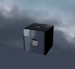 Box with sky texture and sky
