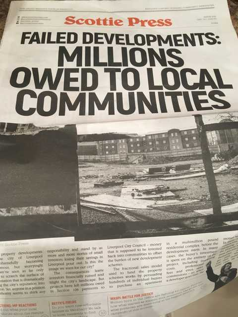 Scottie Press Paper of the People Reveals the Scandal of Failed Developments