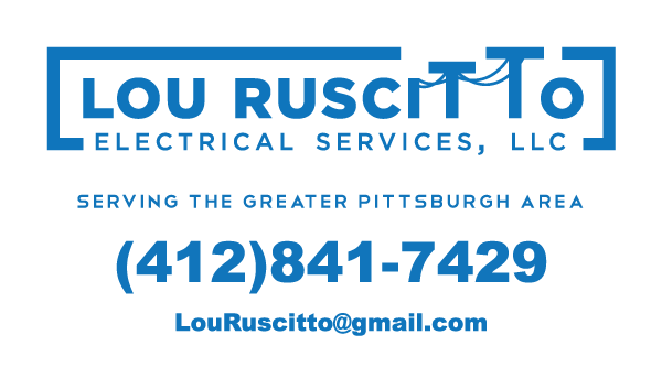 Lou Ruscitto white business card