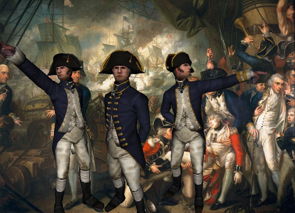 British Naval Officers