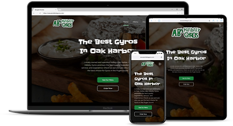 hillbilly gyros website mock up