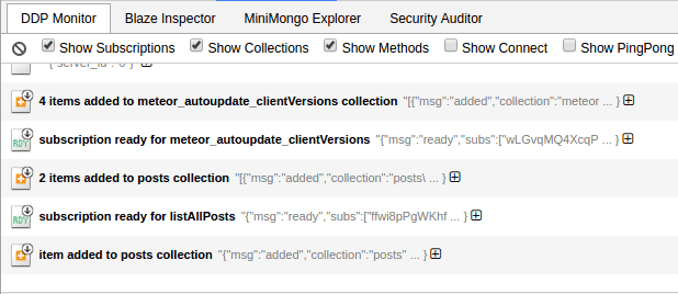 Syncing of MiniMongo data through DDP | meteor publications and subscriptions