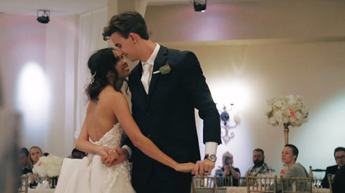 Ben and Cynthia first dance