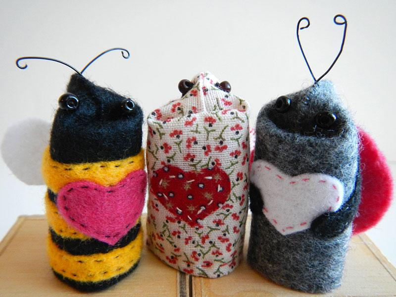 Love Bug Finger Puppets