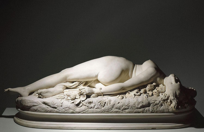 Аполлония Сабатье — «Женщина, ужаленная змеей» (1847). Скульптура Огюста Клезенже, музей Орсе. Фото: PRESSE RMN