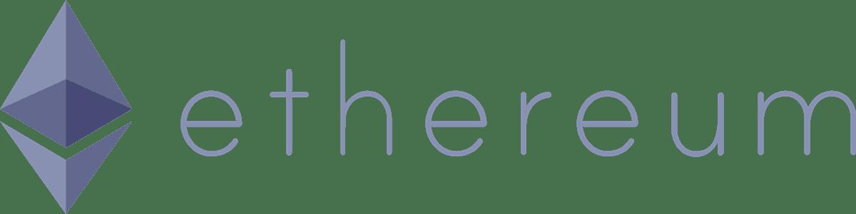 Ethereum logo landscape purple