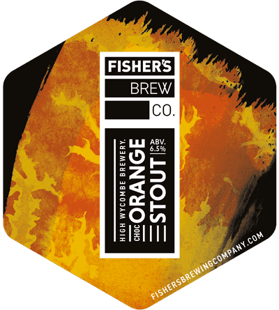 Fisher's Chocolate Orange Stout pump clip