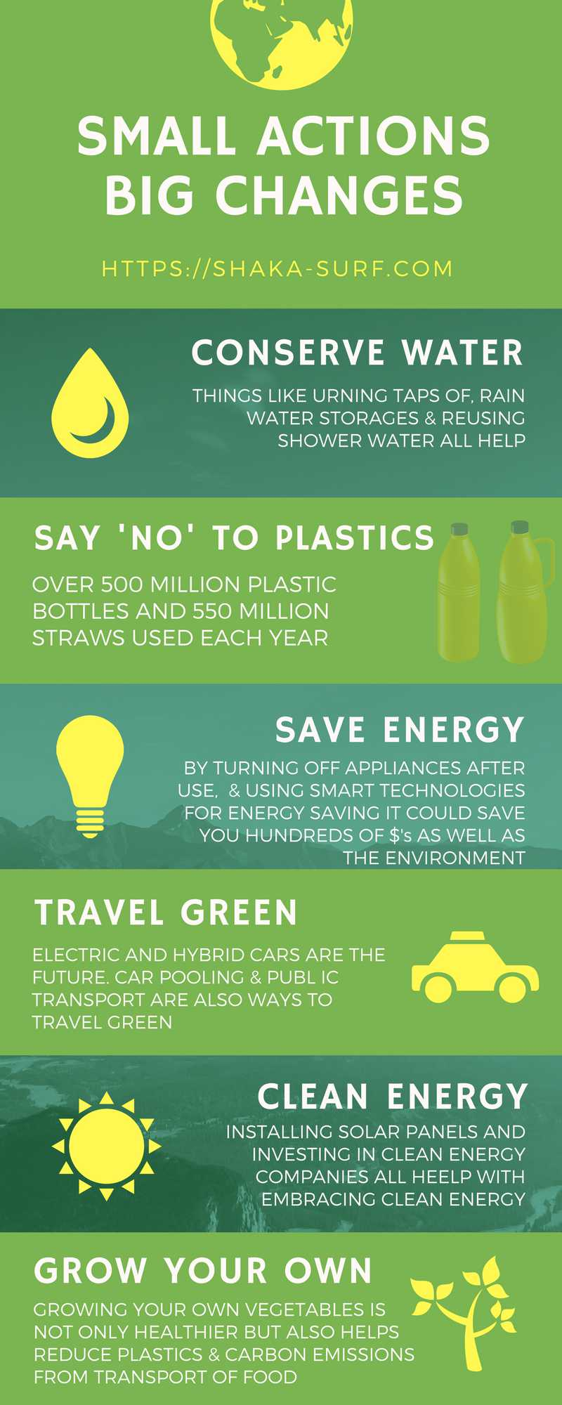 small actions big changes infographic