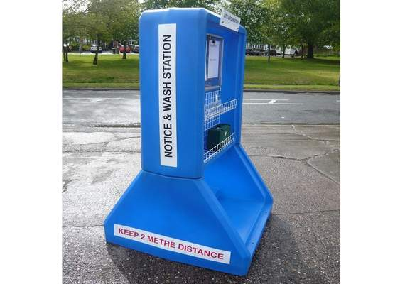 Coronavirus Hand Wash Station - Side