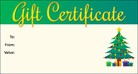 Gift Certificate Template Christmas 11