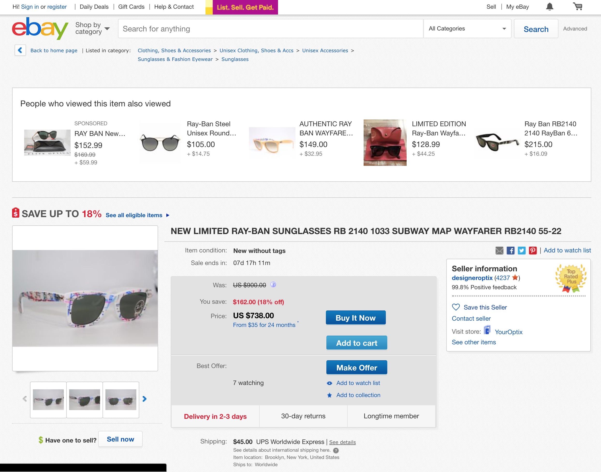 I miei occhiali, dopo qualche anno, su ebay