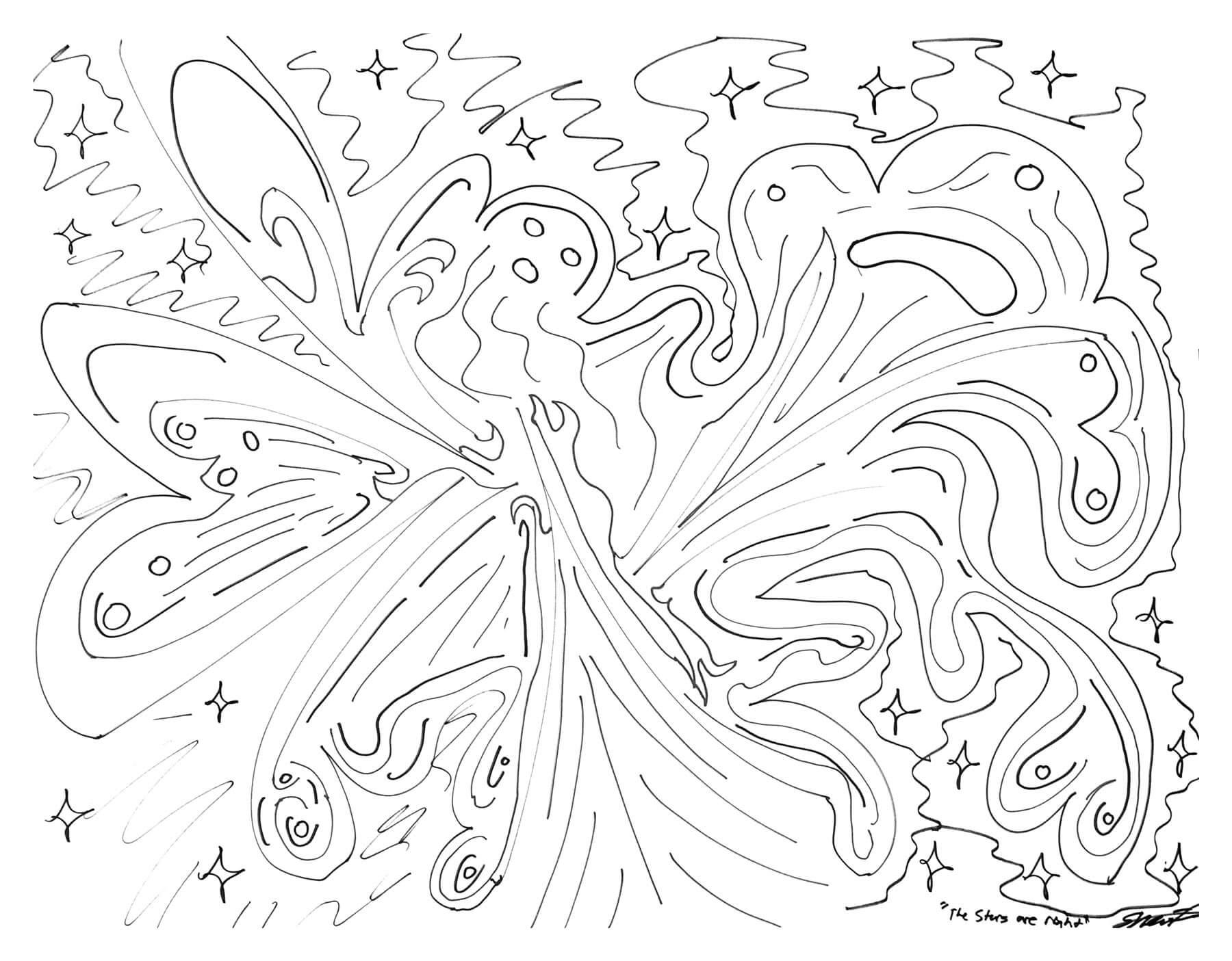 Рисунок из книги «Бездна Челленджера»