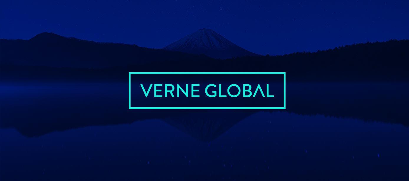 Verne Global Logo with Iceland backdrop