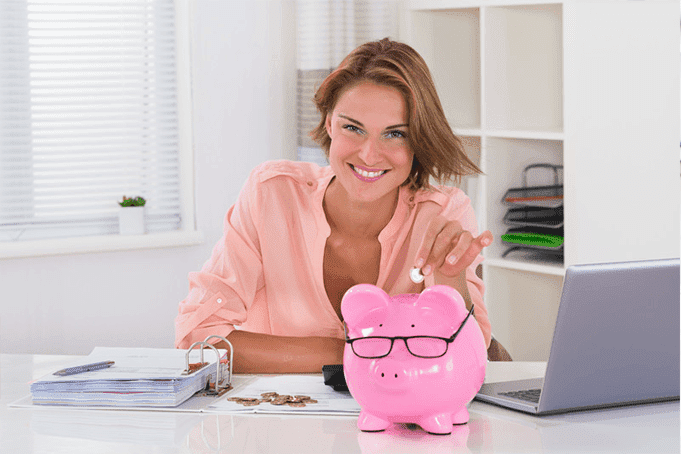 A lady taking control of her finances