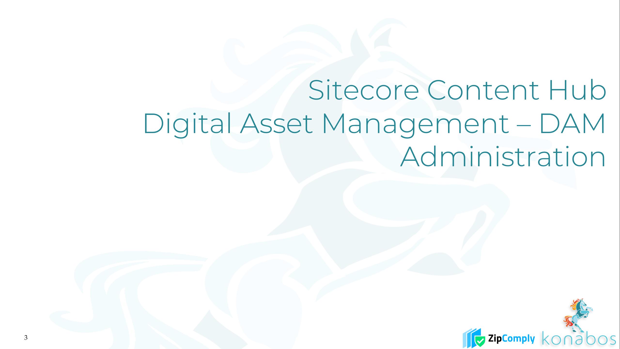 Sitecore Content Hub - Digital Asset Management - DAM - Administration