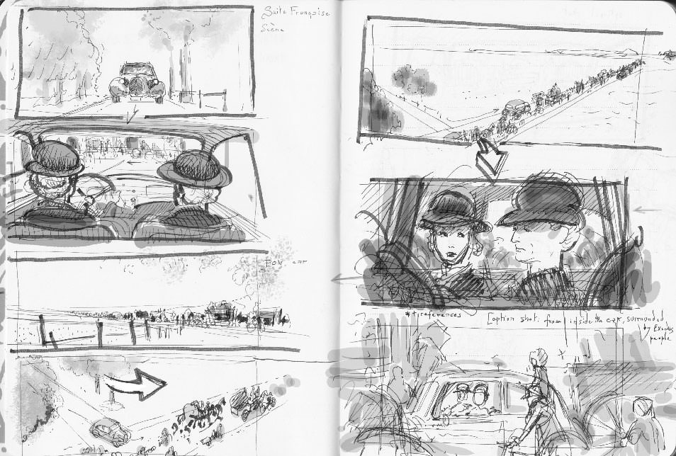 Suite Française first rough storyboard 01